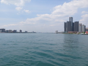 WINDSOR, ONTARIO- JULY 9, 2015- Detroit River- shoreline. photo by Detroit River Canadian Cleanup